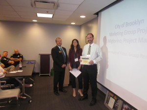 Jeff Buser with Hunington Bank, was honored as one of Northeast Ohio's Top Workplaces at our luncheon on 9-11-14.  Chamber President David Hill (Dollar Bank) and Brooklyn Council President Katie Gallagher, presented the certificates.