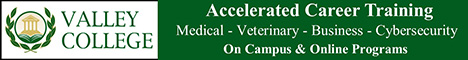 Valley College - Accelerated Career Training: Medical, Veterinary, Business, Cybersecurity - On Campus & Online Programs